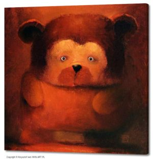 Helpless Big Bear (20x20″)