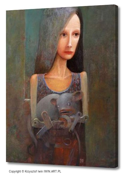 Lady with an Ermine (12x16″)