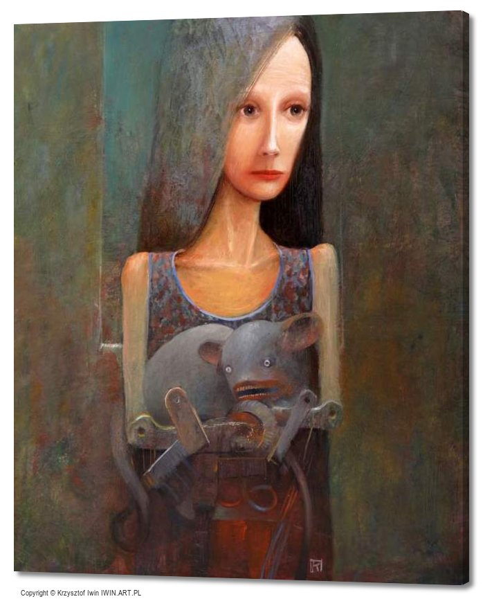 Lady with an Ermine (20x24″)