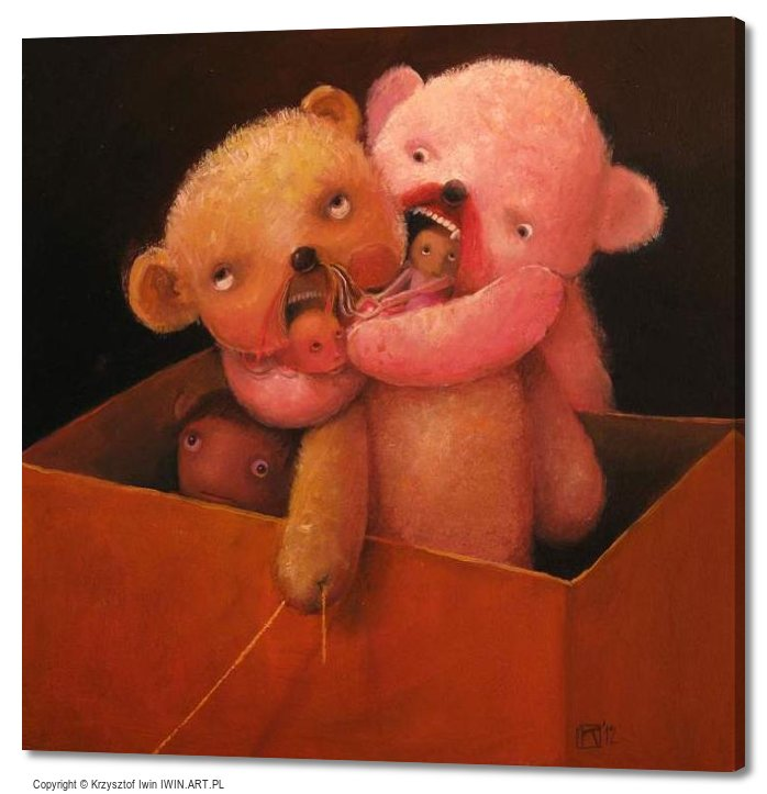 Teddy Bushies (20x20″)