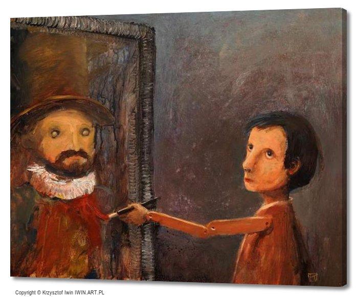 "Self-portrait"" (20x16″)"""