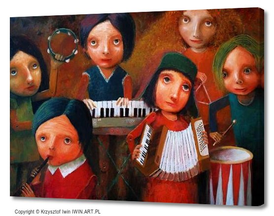 Childrens Orchestra (16x12″)