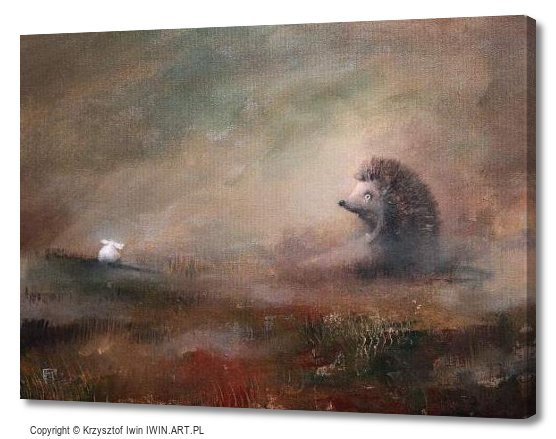 Hedgehog in the Fog (16x12″)