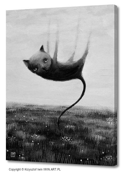 Cat who was suspended (12x16″)