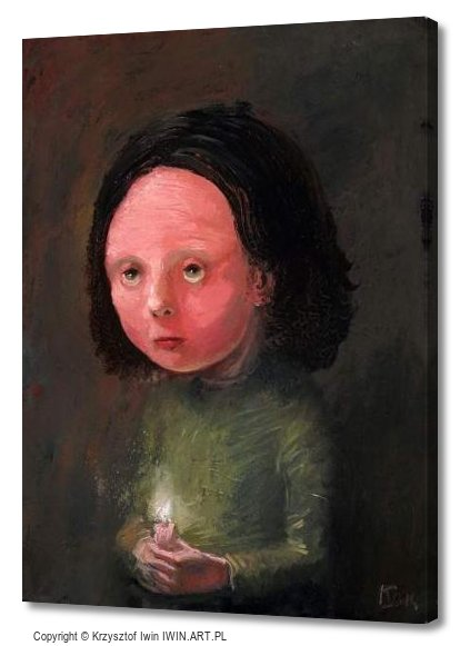 Portrait with a candle (12x16″)