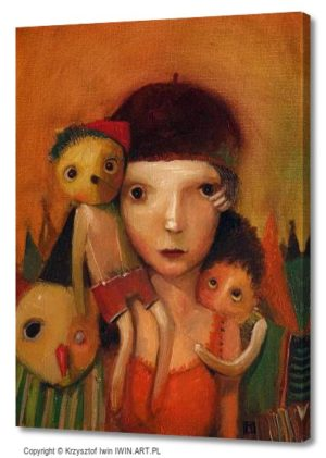 Portrait with dolls (12x16″)