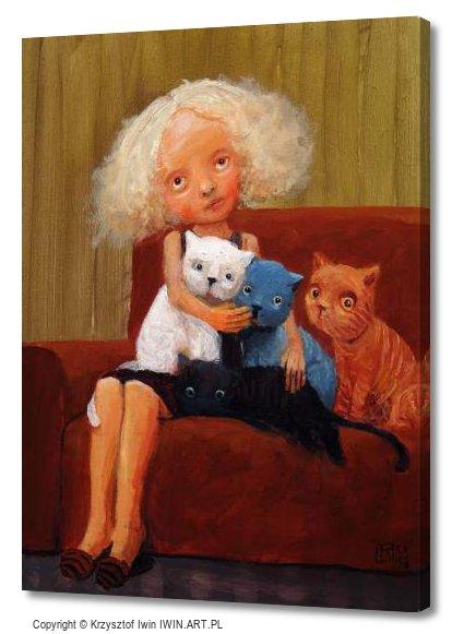 Cat lover (12x16″)