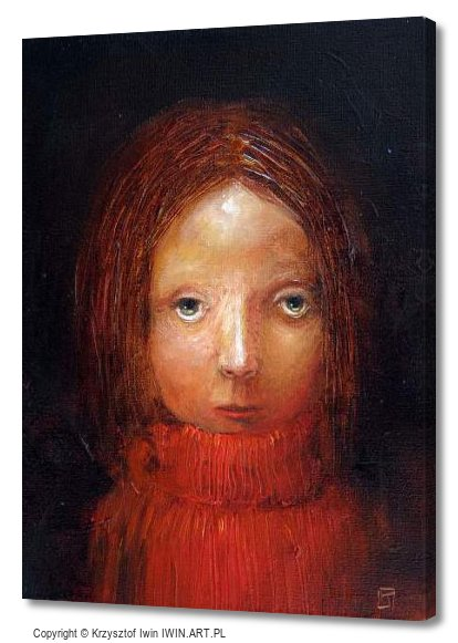 In the red turtleneck (12x16″)