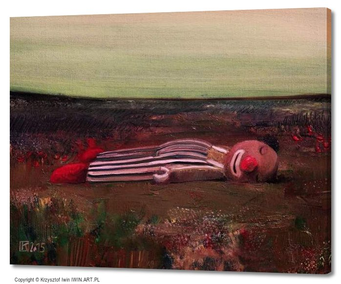 Sleeping clown (20x16″)