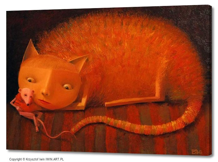 Cat and Mouse (28x20″)