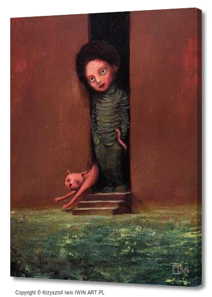 The boy with a cat (12x16″)