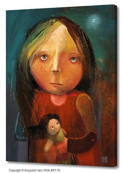 Girl with snot (12x16″)