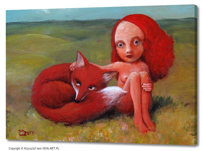 Girl with Fox (28x20″)