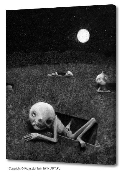 Full moon (12x16″)