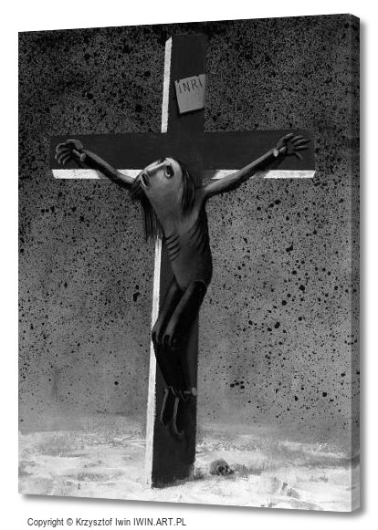 Jesus on the cross (12x16″)