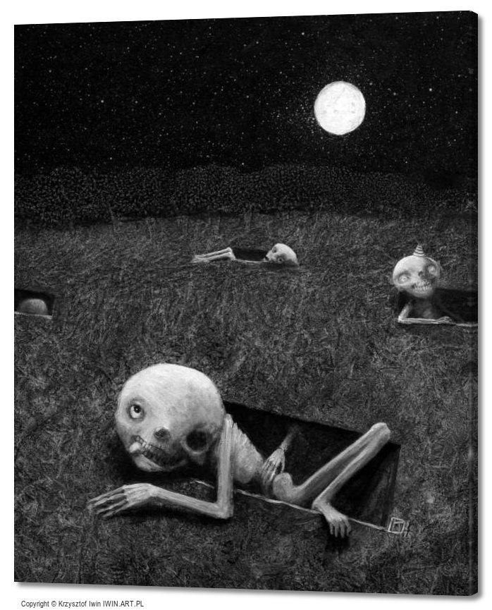 Full moon (20x24″)