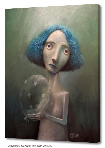Girl with balloon (12x16″)
