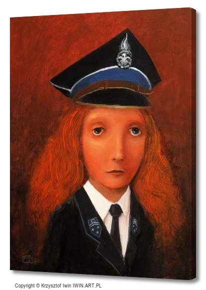 Lady Firefighter (12x16″)