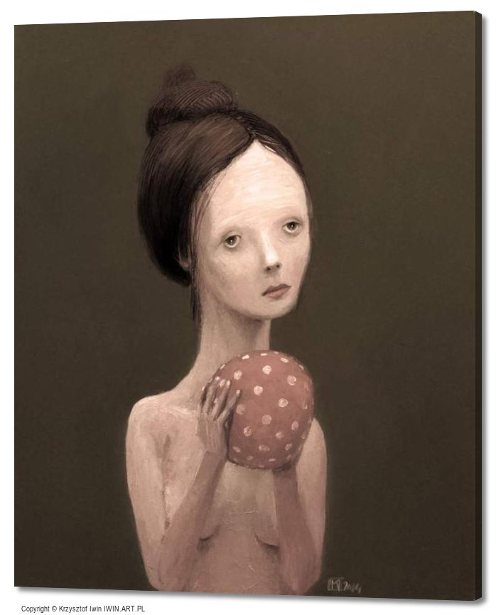 Girl with a ball (20x24″)