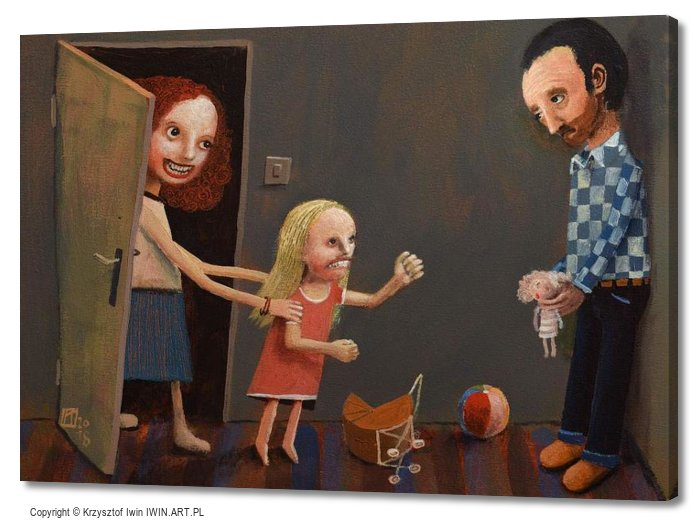 Parental alienation syndrome (28x20″)