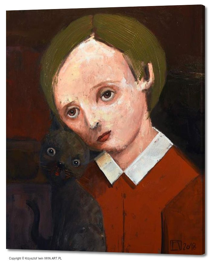 The boy and the cat (20x24″)