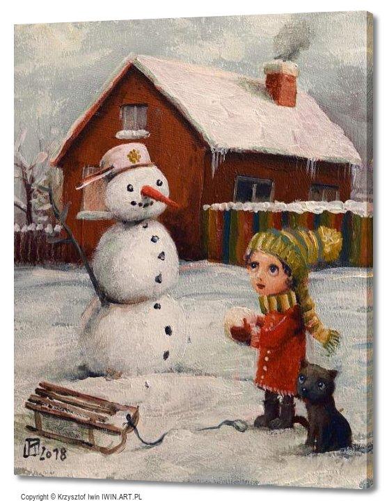 Snowman January (16x20″)