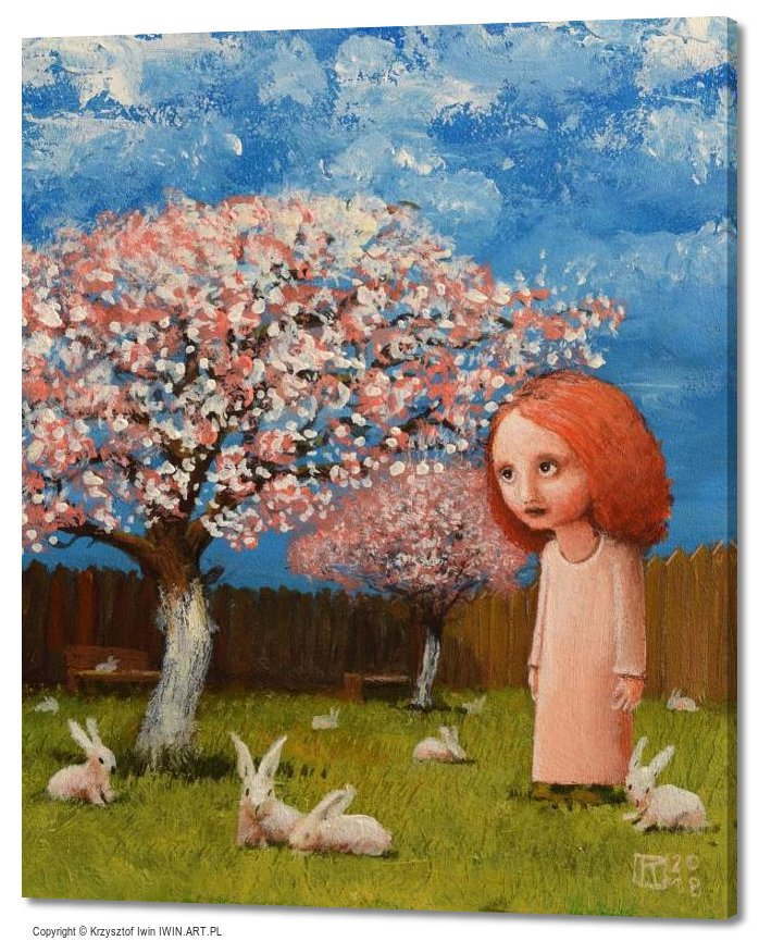 In the Orchard April (20x24″)