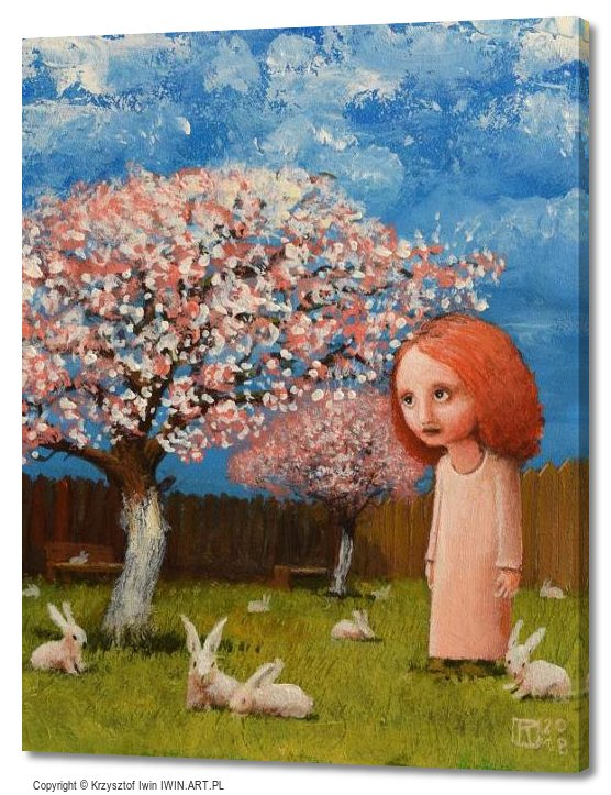 In the Orchard April (16x20″)