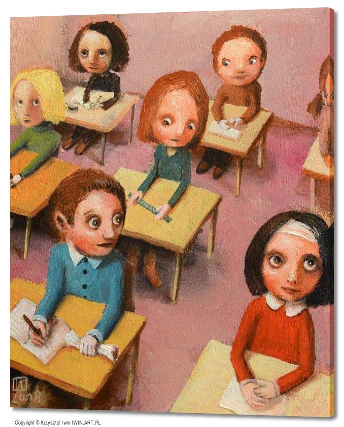 In class September (20x24″)
