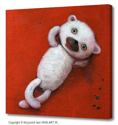 Lying teddy bear (12x12″)