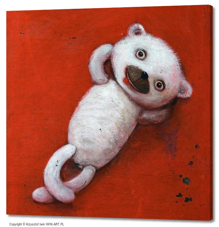 Lying teddy bear (20x20″)
