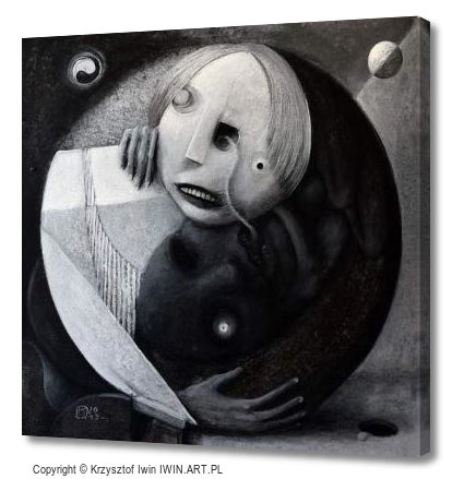 Duality of the world (12x12″)