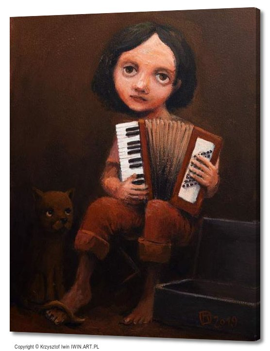 Boy with accordion (16x20″)