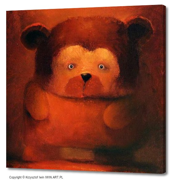 Helpless Big Bear (16x16″)