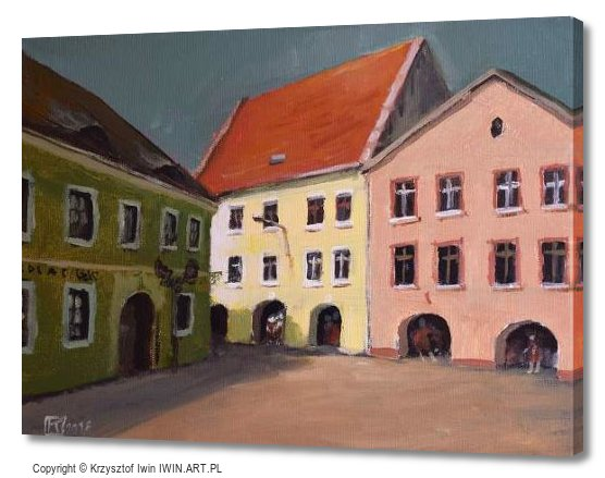 Tenement houses on the Tarnogorski Market Square (16x12″)