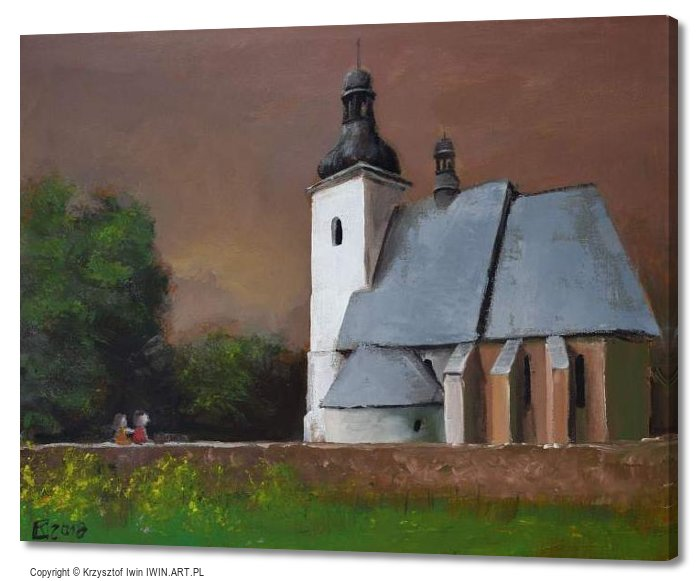 The old church of Saint Martin in Tarnowskie GoryStare Tarnowice (20x16″)