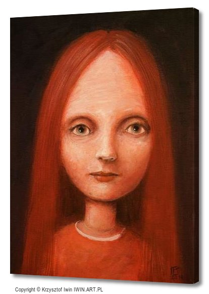 Portrait in reds (12x16″)