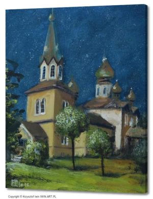Orthodox church of St Nicholas in Michalow (16x20″)