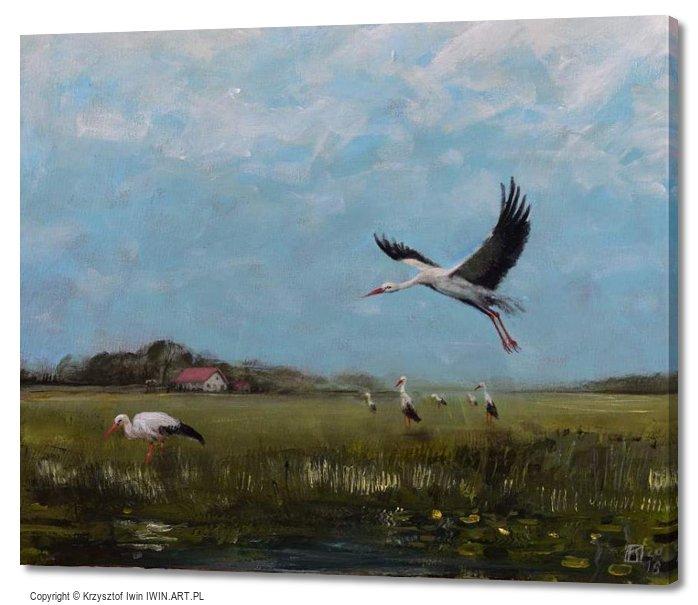 Storks (24x20″)