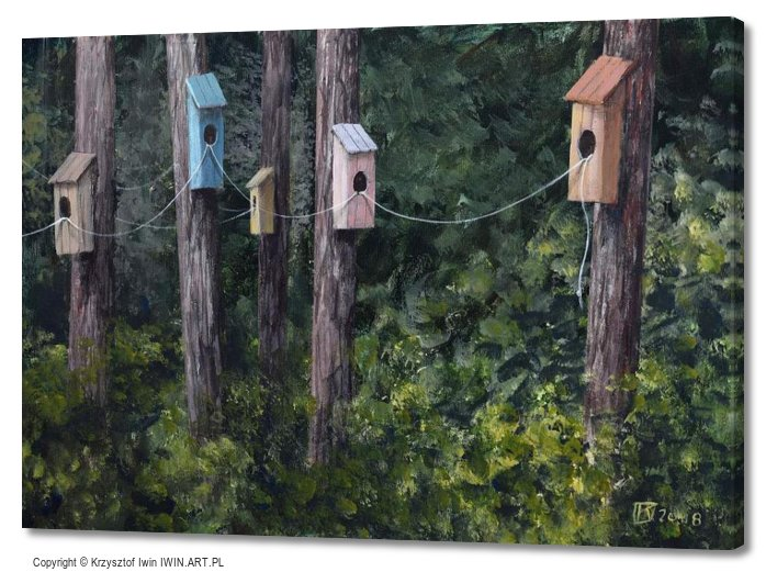 Bird housing estate (28x20″)