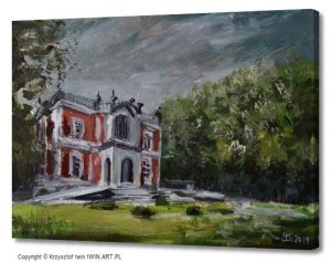 The Knight39s Palace in wierklaniec (16x12″)