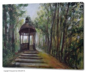 A gazebo in the park (20x16″)