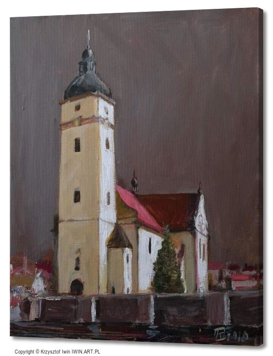 Before the storm  Church of St Antoni in Tworog (16x20″)