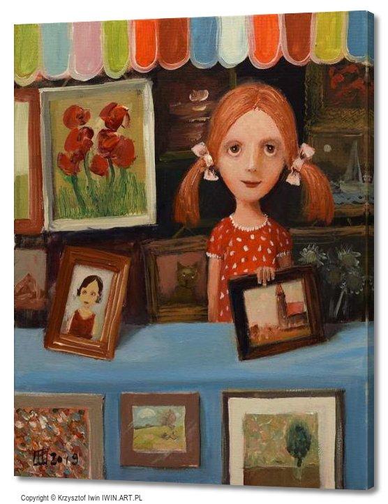 Painting saleswoman (16x20″)